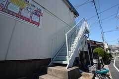 外階段の様子。(2014-08-19,共用部,OTHER,1F)