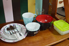 食器類も専有部ごとに用意されています。(203号室)(2017-03-15,専有部,ROOM,2F)