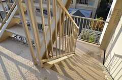 非常階段の様子。(2015-11-16,共用部,OTHER,4F)
