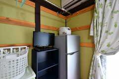 冷蔵庫、炊飯器、TVは部屋ごとに設置されています。(201号室)(2020-08-06,専有部,ROOM,2F)