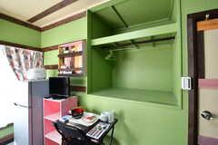 収納スペースの様子。(201号室)(2020-02-03,専有部,ROOM,2F)