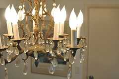 年季の入ったシャンデリア。金属部分が良い味でてます。(2013-06-04,共用部,LIVINGROOM,1F)