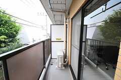 ベランダの様子。(303号室)(2012-07-24,専有部,ROOM,3F)