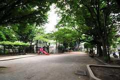 シェアハウス前の公園の様子。(2012-07-24,共用部,ENVIRONMENT,1F)