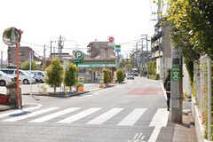 駅からシェアハウスへ向かう道の様子。(2021-04-08,共用部,ENVIRONMENT,1F)