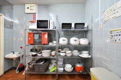 キッチン家電の様子。(2017-11-22,共用部,KITCHEN,1F)