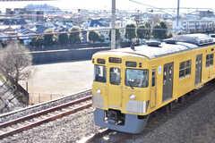 ベランダからは西武新宿線が見えます。(402号室)(2017-02-13,専有部,ROOM,4F)