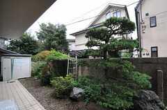 専有部から見た庭の様子。(103号室)(2011-07-29,専有部,ROOM,1F)