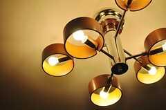 ラウンジの照明の様子。(2014-04-24,共用部,LIVINGROOM,1F)