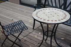 カフェテーブルでゆったり。(2013-08-20,共用部,OTHER,1F)