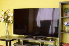 共用TVの様子。(2017-07-24,共用部,TV,1F)