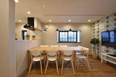 ダイニングテーブルの様子。(2016-07-13,共用部,LIVINGROOM,1F)