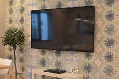 共用TVの様子。(2016-07-13,共用部,TV,1F)