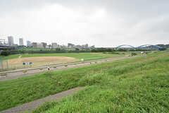 多摩川の土手もすぐちかく。(2016-07-13,共用部,ENVIRONMENT,1F)