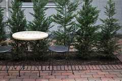 中庭はカフェタイムにぴったり。(2013-09-09,共用部,OTHER,1F)