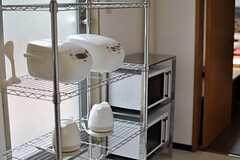 キッチン家電の様子。(2013-09-09,共用部,KITCHEN,1F)