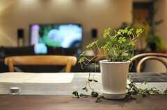 ダイニングテーブルは木の天板と、金属の天板のものがあります。(2013-09-27,共用部,LIVINGROOM,1F)