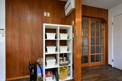 部屋ごとに食品を保管しておける収納棚。(2019-12-09,共用部,KITCHEN,2F)