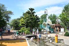東調布公園の様子2。水場もあるので気持ちよく過ごせます。(2018-08-31,共用部,ENVIRONMENT,1F)