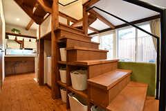 階段下が収納になっていて、バスグッズや洗剤などを置いておけます。(2017-02-23,共用部,OTHER,1F)