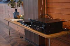オーディオ機器も揃っています。(2019-08-07,共用部,TV,1F)