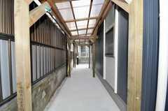 土間だけでなく屋根付きの自転車置場もあります。(2009-01-20,共用部,GARAGE,1F)
