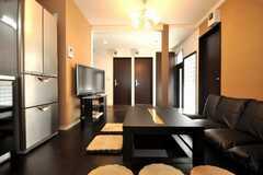 シェアハウスのラウンジの様子4。(2010-03-26,共用部,LIVINGROOM,1F)