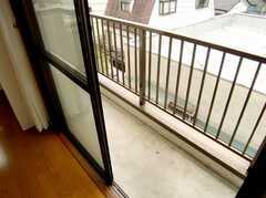 専有部の様子5。ベランダの様子。(3011号室)(2007-07-29,専有部,ROOM,3F)