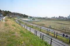 徒歩1分で多摩川の河川敷に出られます。(2015-03-13,共用部,ENVIRONMENT,1F)