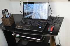 共用PCの様子。(2013-02-07,共用部,PC,1F)