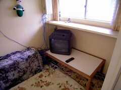 ラウンジに設置された共用TV(2006-08-23,共用部,TV,1F)