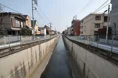 公園下を流れる呑川。(2012-03-28,共用部,ENVIRONMENT,1F)