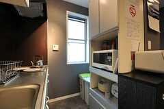 キッチンの対面にはキッチン家電がありあます。(2013-11-21,共用部,KITCHEN,1F)
