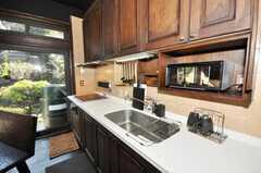 シェアハウスのキッチンの様子。(2009-11-06,共用部,KITCHEN,1F)