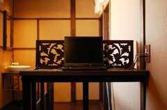 共用PCの様子。(2009-11-06,共用部,PC,2F)