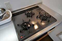 ガスコンロは3口です。(2011-04-05,共用部,KITCHEN,1F)