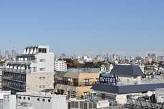 晴れた日は、東京タワーとスカイツリーが並んだ景色を見ることができます。(2012-12-10,共用部,OTHER,5F)