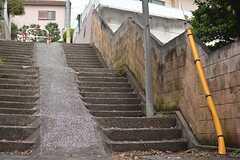 建物の前は階段ですが、自転車も通れるようになっています。(2014-10-07,共用部,ENVIRONMENT,1F)