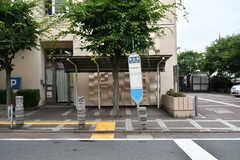 近くのバス停の様子。(2017-07-04,共用部,ENVIRONMENT,1F)