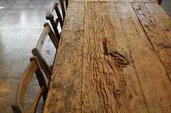 テーブルの様子。良い味でてます。  (2014-03-28,共用部,LIVINGROOM,2F)