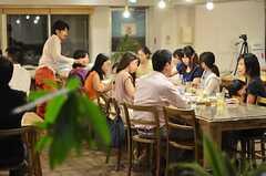 食事の風景。(2014-07-25,共用部,PARTY,2F)