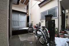 自転車置場の様子。(2014-02-10,共用部,GARAGE,1F)