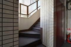 マンションの階段。(2019-03-14,共用部,OTHER,1F)