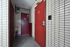 ユニットの玄関ドア。106〜109号室の共用です。(2020-01-31,周辺環境,ENTRANCE,1F)