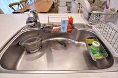 シンクの下は共用の鍋やフライパンが収納されています。(2017-02-03,共用部,KITCHEN,2F)
