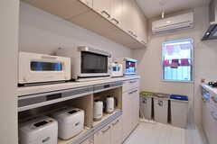 バルミューダのオーブントースターが2台設置されています。(2017-02-03,共用部,KITCHEN,2F)