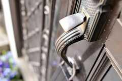 正面玄関のドアノブ。(2009-12-28,周辺環境,ENTRANCE,1F)