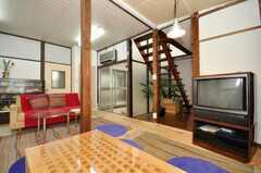 シェアハウスのラウンジの様子4。(2009-12-28,共用部,LIVINGROOM,1F)