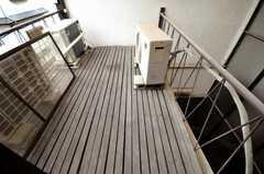 ベランダの様子。(205号室)(2009-12-28,専有部,ROOM,2F)