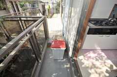 ゴミ箱の様子。(2009-10-12,共用部,OTHER,2F)